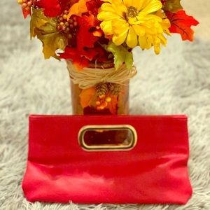 NWT Red Charming Charlie's Clutch Bag